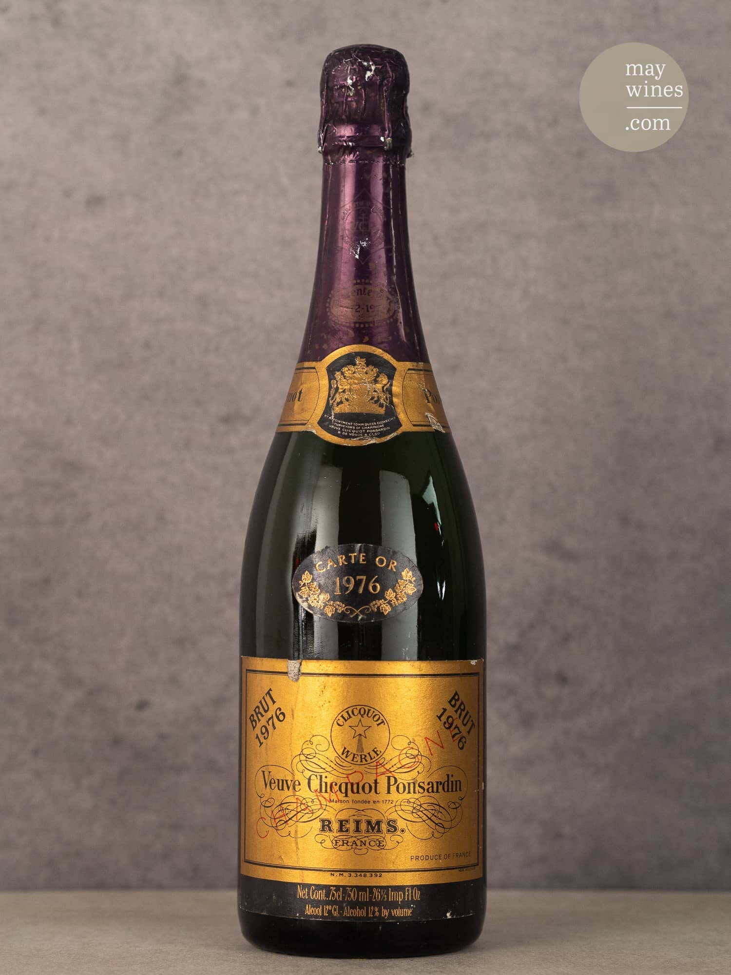1976 Carte Or - Vueve Clicquot